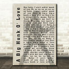 Elvis Presley A Big Hunk O' Love Pose Shadow Song Lyric Quote Print