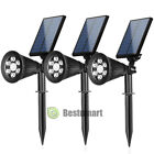 4Pack 6 LED Solar Spot Lights Waterproof Outdoor Landscape Lighting Auto On/Off