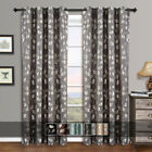 Kyпить (Set of 2) Charlotte Jacquard Grommet Curtains Leafy Window Curtain Panels  на еВаy.соm