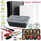 50 Pack Meal Prep Containers Food Storage Reusable Microwave Safe + 3 Food Tongs