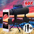 New 40x60 Zoom Monocular HD Telescope Telephoto Camera Lens+Phone Holder+Tripod