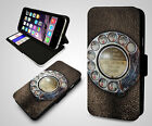 Retro Telephone Old Dial Vintage Collectible Leather Wallet New Phone Case Cover