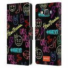 OFFICIAL emoji® NEON LEATHER BOOK WALLET CASE COVER FOR SAMSUNG PHONES 2