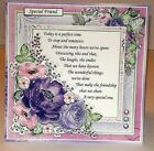 Handmade Greeting Card 3D All Occasion With A Sentiment And Flowers