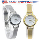 Women Fashion Quartz Wrist Watches Small Dial Mesh Stainless Steel Bracelet Fast image