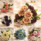 Peony Bunch Artificial Flower Bouquet Fake Leaf Home Decoration Accessory Hot