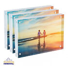 Clear Acrylic Photo Frame Magnetic Photo Holder | Free Standing Picture Frame