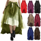 Gothic Black Sexy Lace Hitch Skirt Vintage Steampunk Victorian Ruffle Skirts