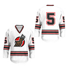 WHA 1974 75 Michigan Stags Home Hockey miszuk 5 Jersey Colors Free Shipping