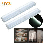 2PCS LED Closet Night Light Kitchen Cupboard Motion Activated Cool White SS715