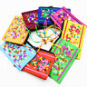 10pcs Embroidered zip  jewelry wrap satin card holder coin purse  bag