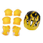 Kids Sports Protective Gear Outdoor Safety Helmet Knee Elbow Wrist Pads Set