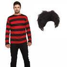 New Adult Dennis the Menace Fancy Dress Beano Dandy Long Sleeve Costume Book day