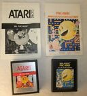 Pac-Man Ms. Pac-Man Atari 2600 lot with Manuals Cleaned & Tested