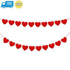 Konsait 5M/16.4FT valentine Felt Heart Garland Banner Red Love Bunting...