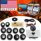 White/Black/Red Arcade DIY Kit Game Parts USB Encoder To PC Joystick + Buttons