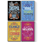Pillow & Toast Shareable College Dorm Posters Set, Unusual Friendship Gift, 11 x