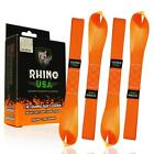 Rhino USA Soft Loop Motorcycle Tie Down Straps Guaranteed 10427 lb Max Break New