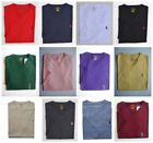 Men Polo Ralph Lauren V NECK T Shirt Size S M L XL XXL - STANDARD FIT Cotton Tee image