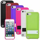 Black/White/Purple/Pink Gummy Hard Stand Case Cover For ipod touch 5 6 5th Gen