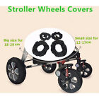 2Pcs Baby Kids Stroller Pram Anti Dirty From Floor Wheel Black Cover Accesso SU