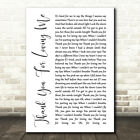 Thank You For Loving Me White Script Song Lyric Quote Print