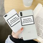 For iPhone X XS MAX XR 6 7 8 Plus TPU Ultra Slim Simple English Clear Soft Case