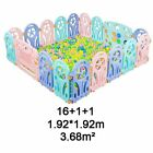 Baby Playpen Plastic Fence Safety Protector Barriers Fencing Kids Game Play Yard
