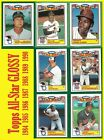 Topps All-Star Inserts - Bench Brett Carew Carter Ozzie Rice Schmidt 1984 - 1990