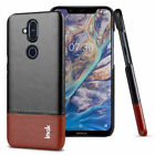 For Nokia 8.1 Imak Luxury Shockproof Classic Business Leather Card Case Cover