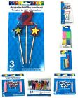 Happy Birthday Party Candles Set Cake Topper Decoration Supplies Kids Adults