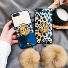 Unique Luxury Fashion Leopard Case phone with Pop Up Holder Phone For Samsung S