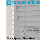 FAUX WOOD MADE TO MEASURE  VENETIAN BLINDS  GREYS & GRAINED COLOURS SAMPLES ONLY