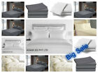 Fitted Bed Sets Flat Sheets 1900 Count 16 Deep Pocket Wrinkel Free 100% Cotton image