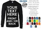Personalised Long Sleeve T-Shirt Custom Printed T Shirts Text Stag Hen Holiday