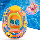 Infant Kid Swim Pool Swimming Inflatable Float Ring Adjustable Safety Beach PVC