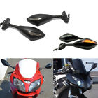 Motorcycle LED Turn Signal Mirror For Kawasaki Ninja 500 94-08 ZX6R ZX6RR 98-04