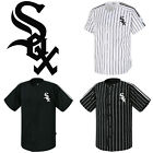 Chicago White Sox Striped Button Jersey Baseball Open T-Shirts Uniform 0100 on Ebay