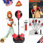 Adult Kids Punching Ball Bag Boxing Punch Exercise Sports Set With Gloves US
