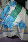 BEAUTIFUL TEXTURED SILK SCARF MADE IN THIALAND HAND ROLLED HEM-EXC, COND.