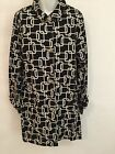 GEORGE ME  Womens Jacket Size L 12-14 Fashion Casual black with Print Light Coat