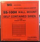 Brand New MG Eletronics SS-100H Wall Mount Self Contained Siren