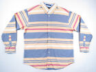 Tommy Hilfiger Multi Colo Striped Color Bloc Long Sleeve Button Up Shirt XL NWOT
