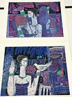 "Wong Shue""Loves Little Gifts & Message On The Wind"" Serigraph Pair Hand Signed"