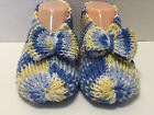 MULTI COLOR Hand Knitted Ladies Slipper 1 Size Fits Most Choose Color 6 7 8 9 10