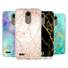 HEAD CASE DESIGNS GLITTERY MARBLE PRINTS SOFT GEL CASE FOR LG PHONES 1