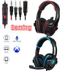 Sades Gaming Headset Stereo Headphone 3.5mm Mic For PS4 Xboxone PC Latop M2T3