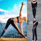 Women Mesh Leggings Yoga Fitness Workout Patchwork Running Slim Stretch pant New
