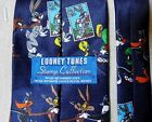 "LOONEY TUNES US POSTAGE STAMP COLLECTION NECKTIE TIE 3.5"" 56"" BUGS BUNNY 1997"