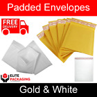 100 PACK OF ELITE GOLD OR WHITE PADDED BUBBLE ENVELOPES BAGS POSTAL ALL SIZES